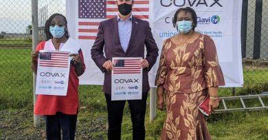 U.S. Ambassador Hails NPHIL & MOH For Robust COVID-19 Fight