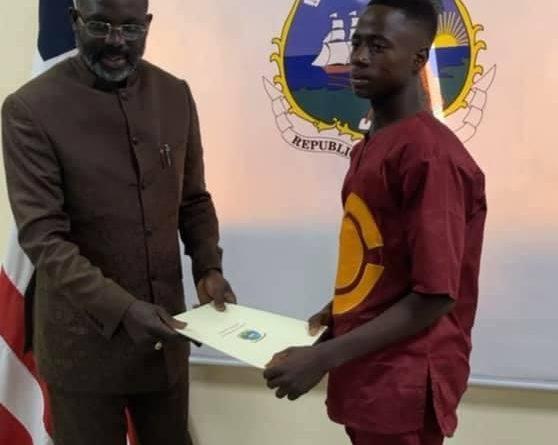 FULL LETTER: Weah Writes Integrity Idol Emmanuel Tuloe